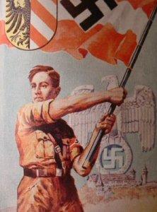 HitlerYouthBoyWithFlag
