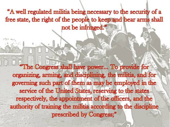 A well regulated militia being necessary to