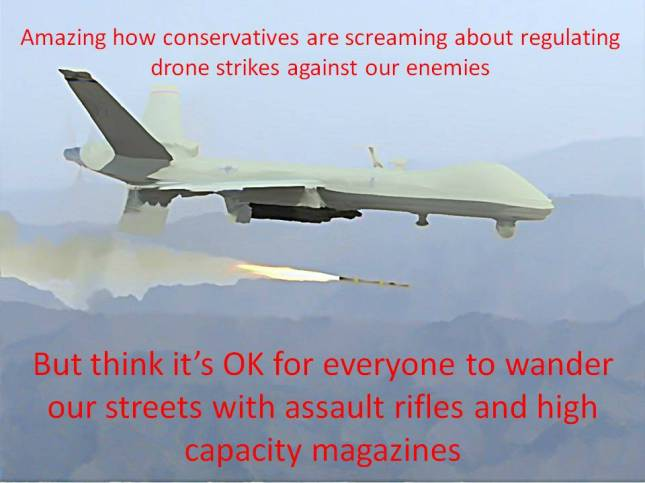Amazing how conservatives are screaming about regulating drone