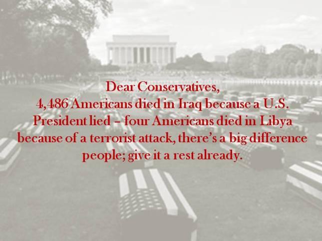 Dear Conservatives,
