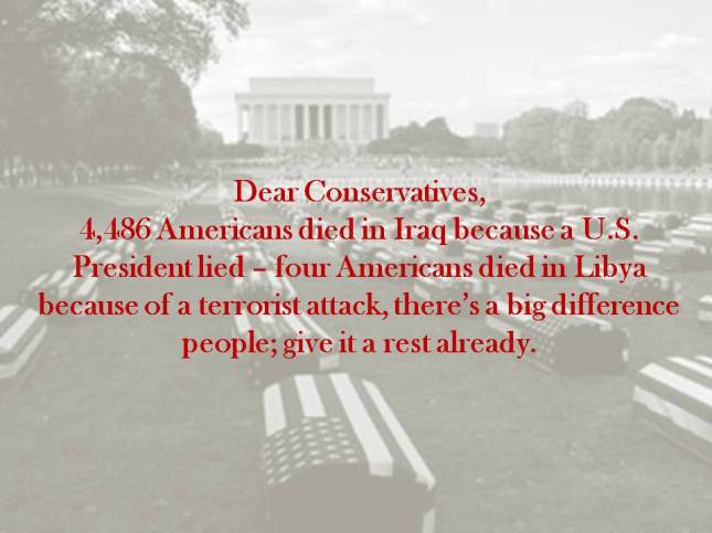 Dear Conservatives,
