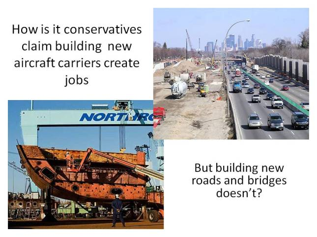 How is it conservatives claim building  new aircraft