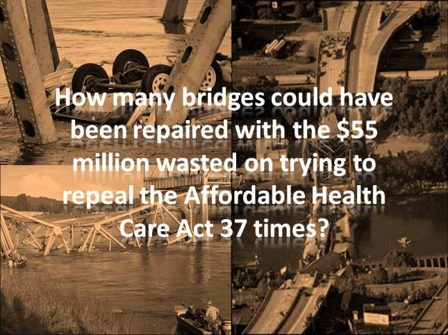 How many bridges could have been repaired with