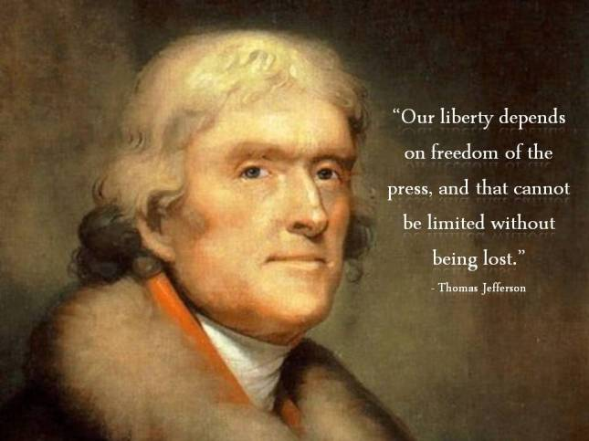 Our liberty depends on freedom of the