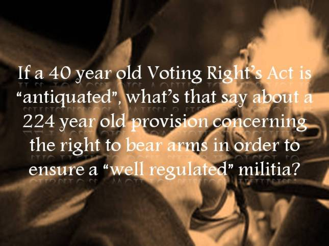 If a 40 year old Voting Right's Act