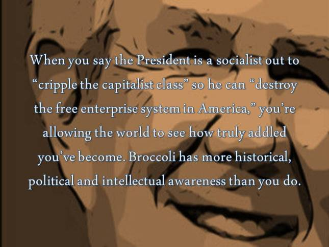 When you say the President is a socialist