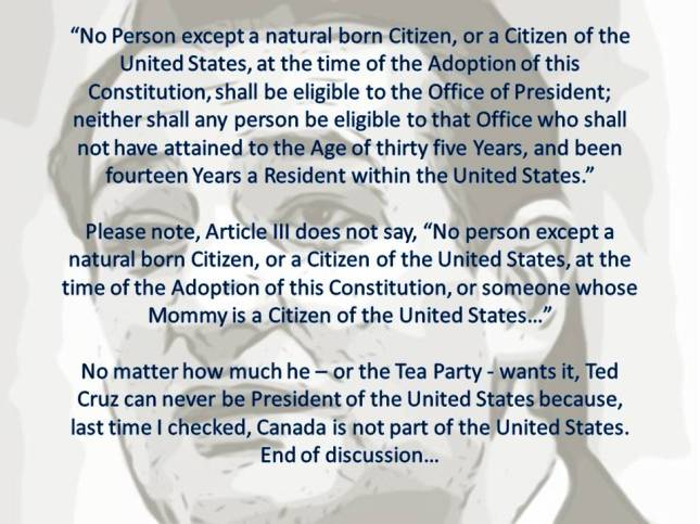 No Person except a natural born Citizen