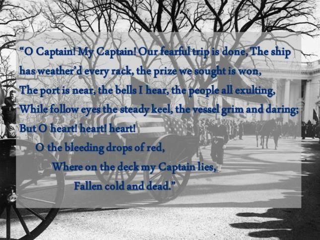 O Captain! My Captain! Our