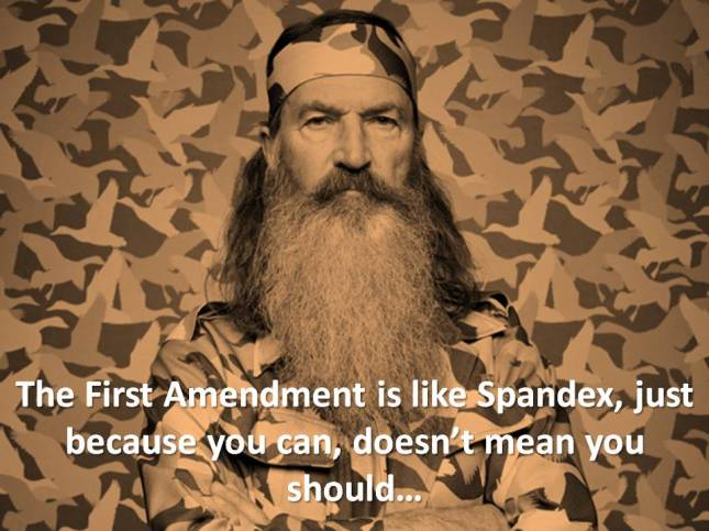 The First Amendment is like Spandex, just