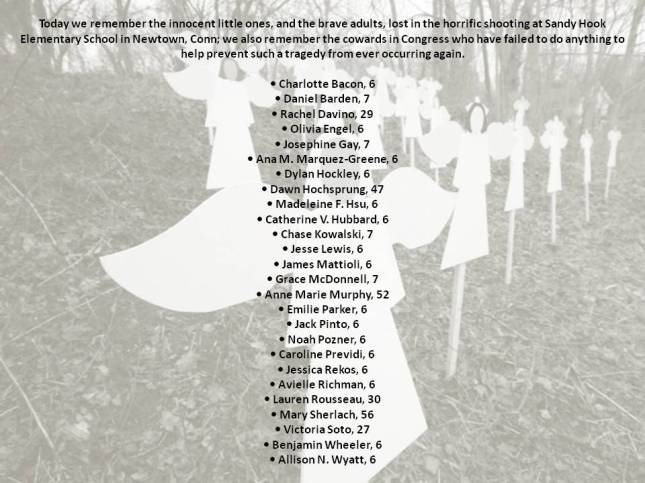 Today we remember the innocent little ones,
