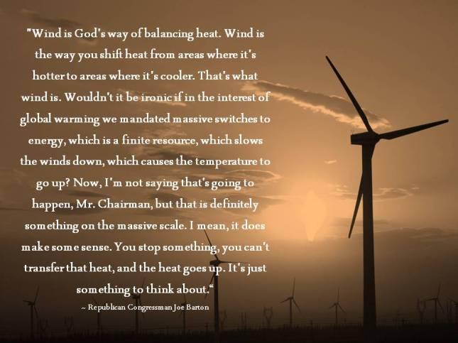 Wind is God's way of balancing heat