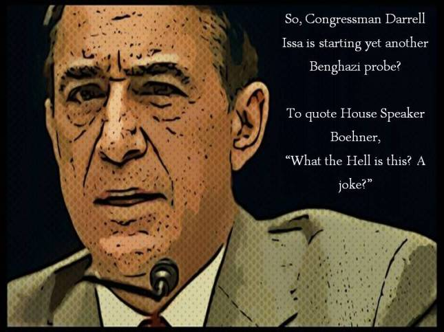So, Congressman Darrell Issa is starting yet