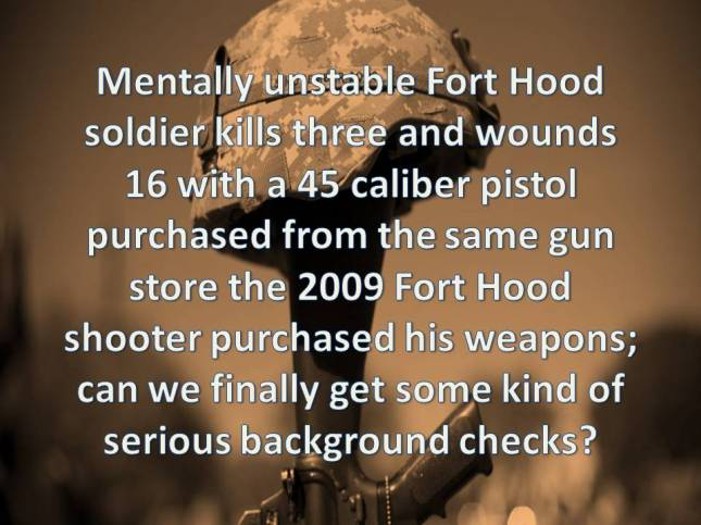 Mentally unstable Fort Hood soldier kills three and