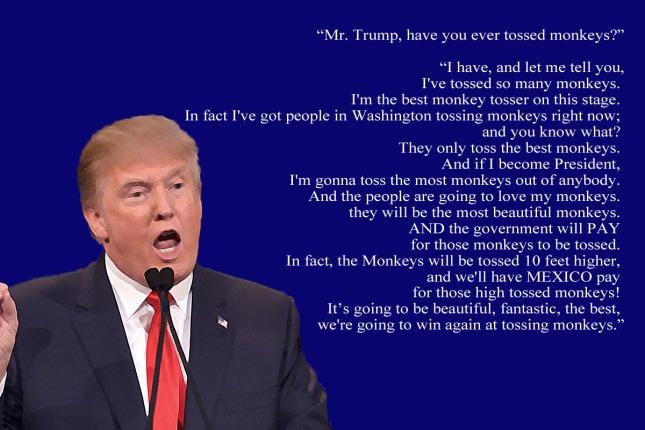 trump the monkey tosser