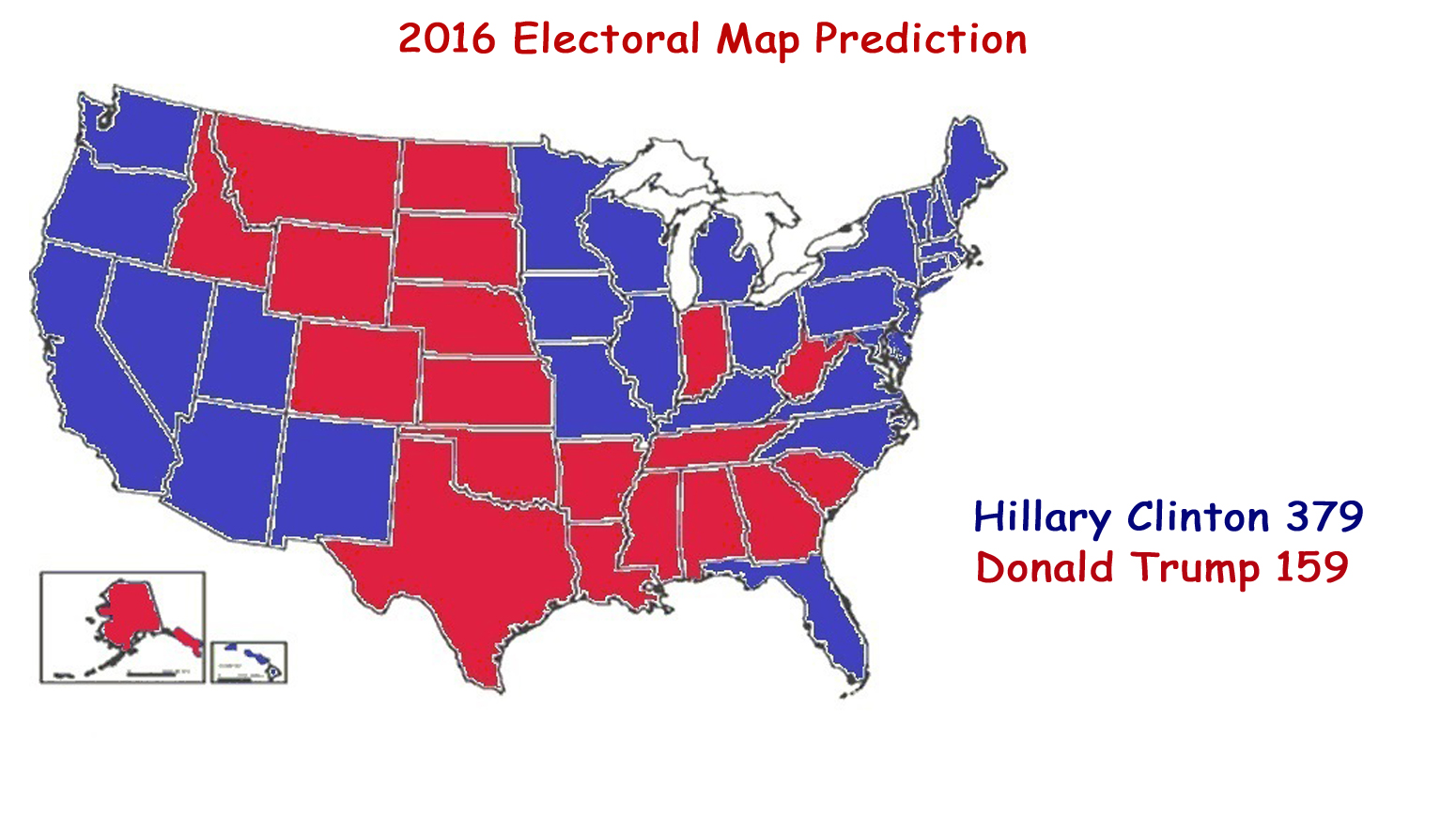 Astrology And Politics US Presidential General Election - Us party map