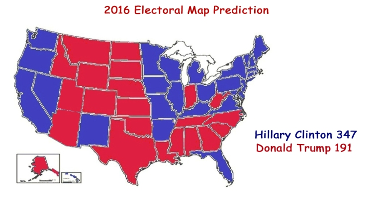2016 Electoral Map Clinton-Trump 1Jun16 - 2