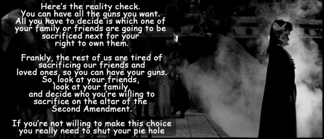 on the altar of the 2nd amendment