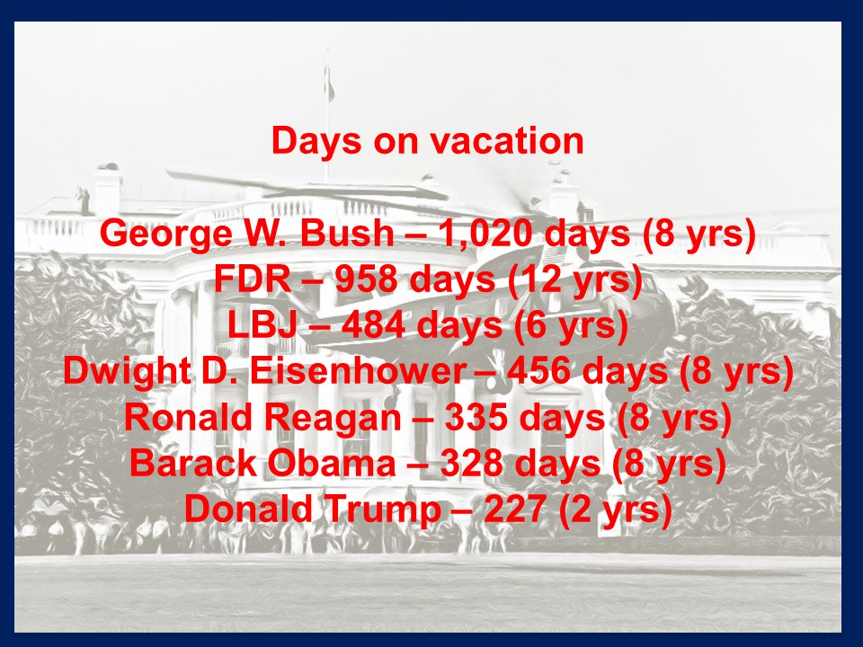Presidential days on vacation 16 Jul 2019